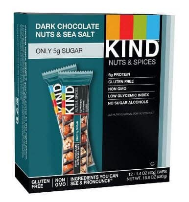 KIND Bars, Dark Chocolate Nuts & Sea Salt, Gluten Free